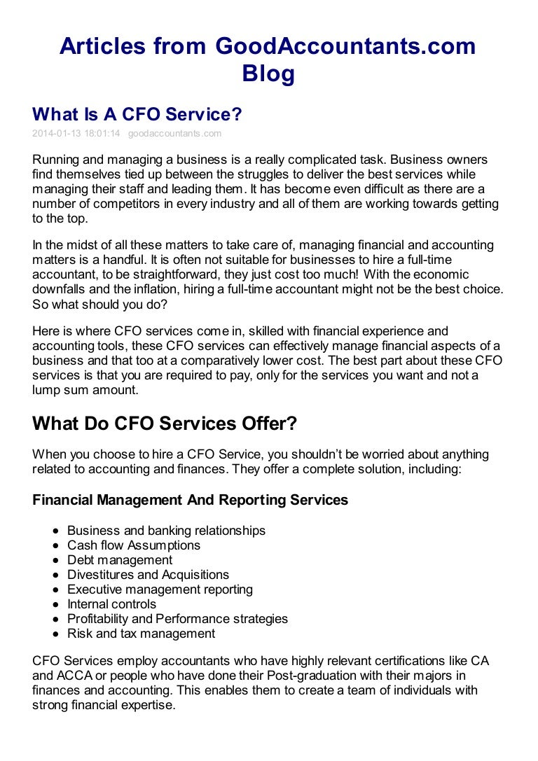 What is a CFO Service?