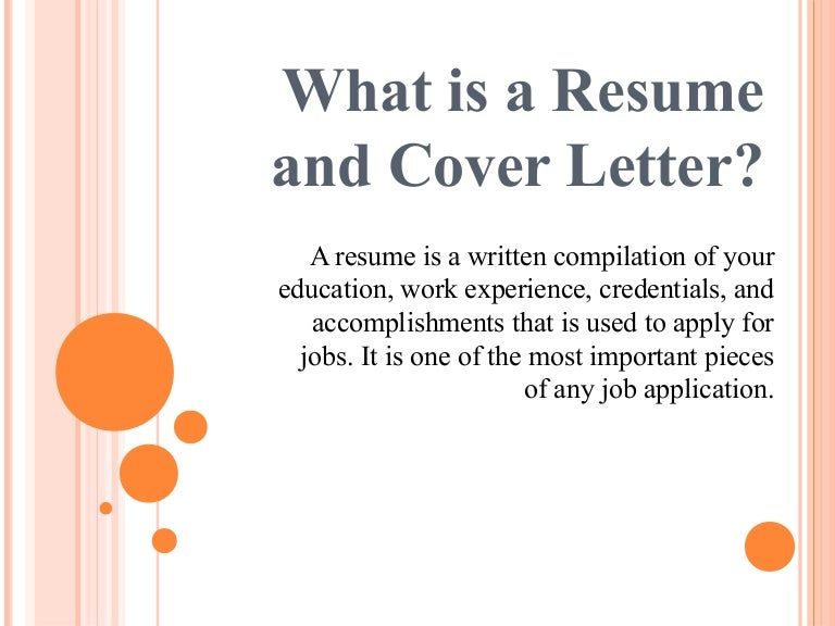 importance of resume and cover letter - What Is A Resume
