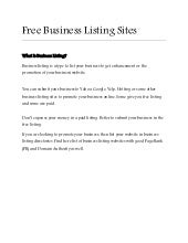What is Business Listing