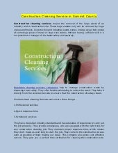 Construction Cleaning Service in Summit County