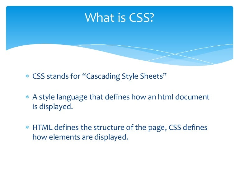 CSS explanation example