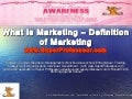 What is Marketing ? Definition of Marketing on www.SuperProfesseur.com  by Professeur Ronald Tintin