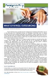 What is Payroll Outsourcing?