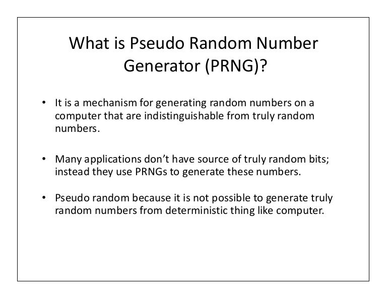 Pseudo What Number Random Is 21 carkciyapistirmasistemleri com