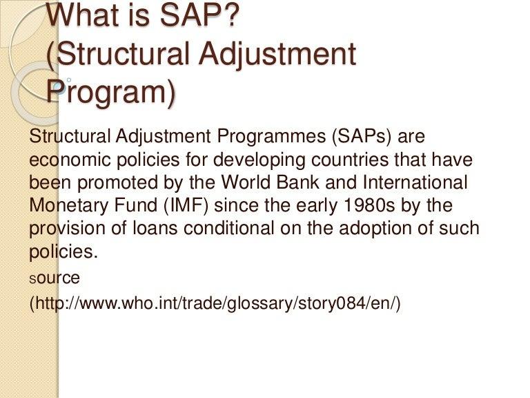 structural adjustment programs