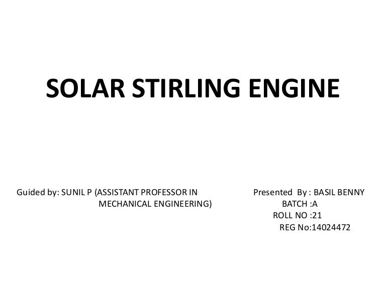 Stirling engine ppt | engines | gases.