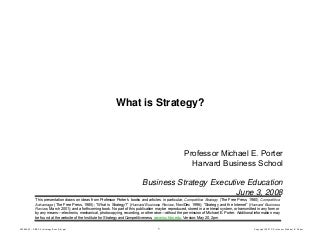 What is strategy by Michael Porter