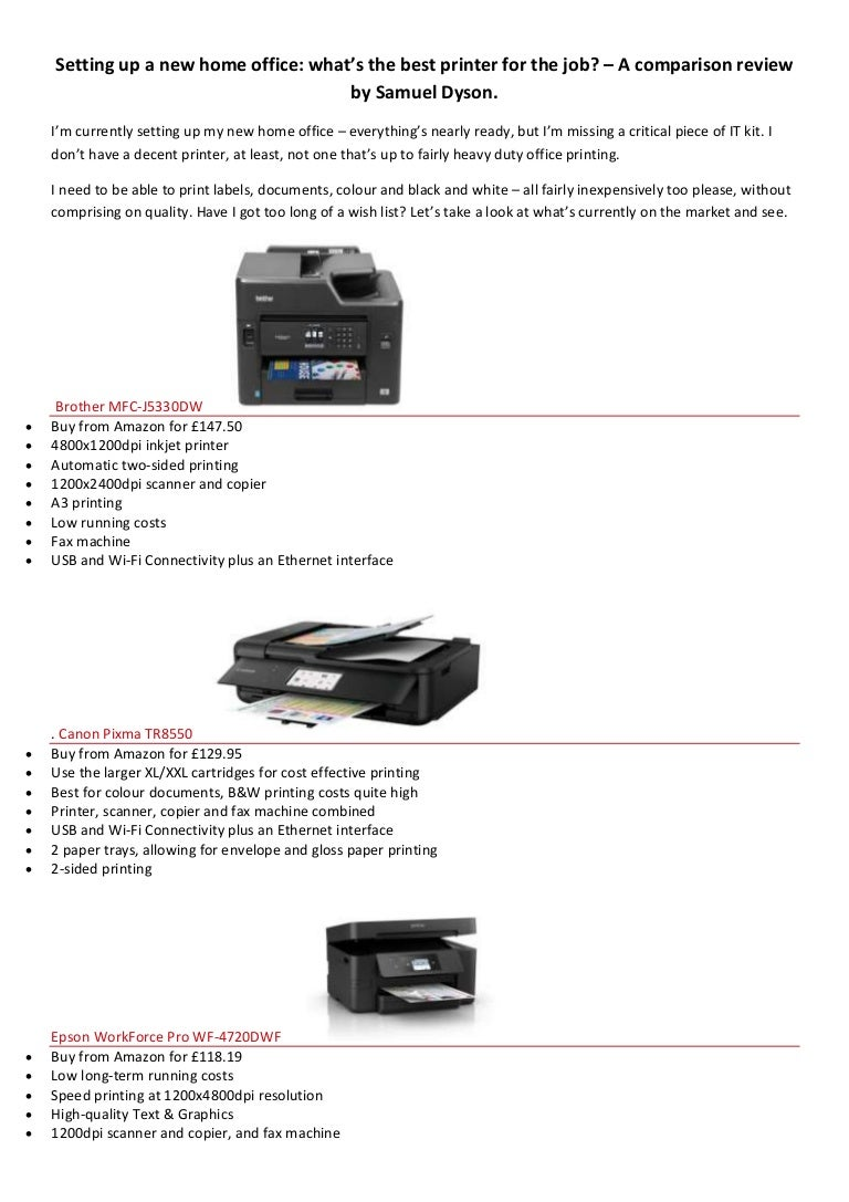 What is the best home office printer - Samuel Dyson