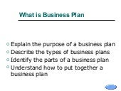 What is the purpose of a business plan
