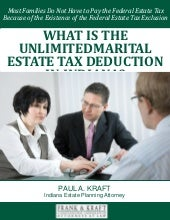 What is the Unlimited Marital Estate Tax Deduction in Indiana?