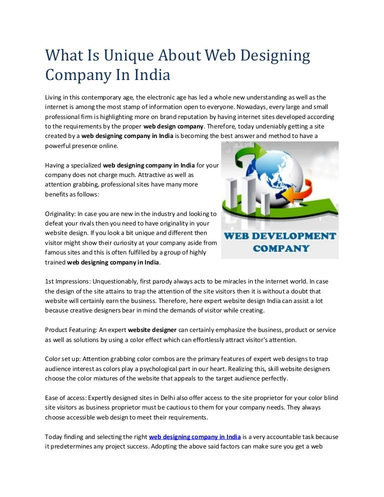 What Is Unique About Web Designing Company In India
