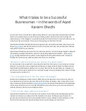 What it takes to be a successful businessman