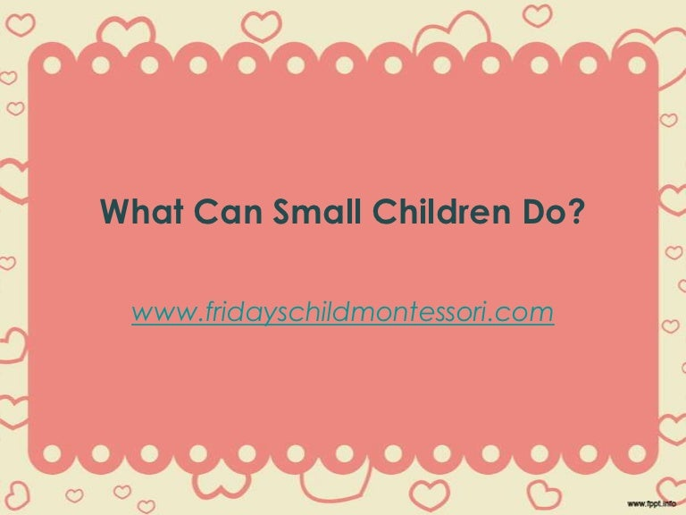 What Kids Can Do Ppt