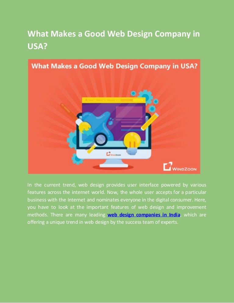 What Makes A Good Web Design Company In Usa