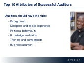 What makes a great auditor