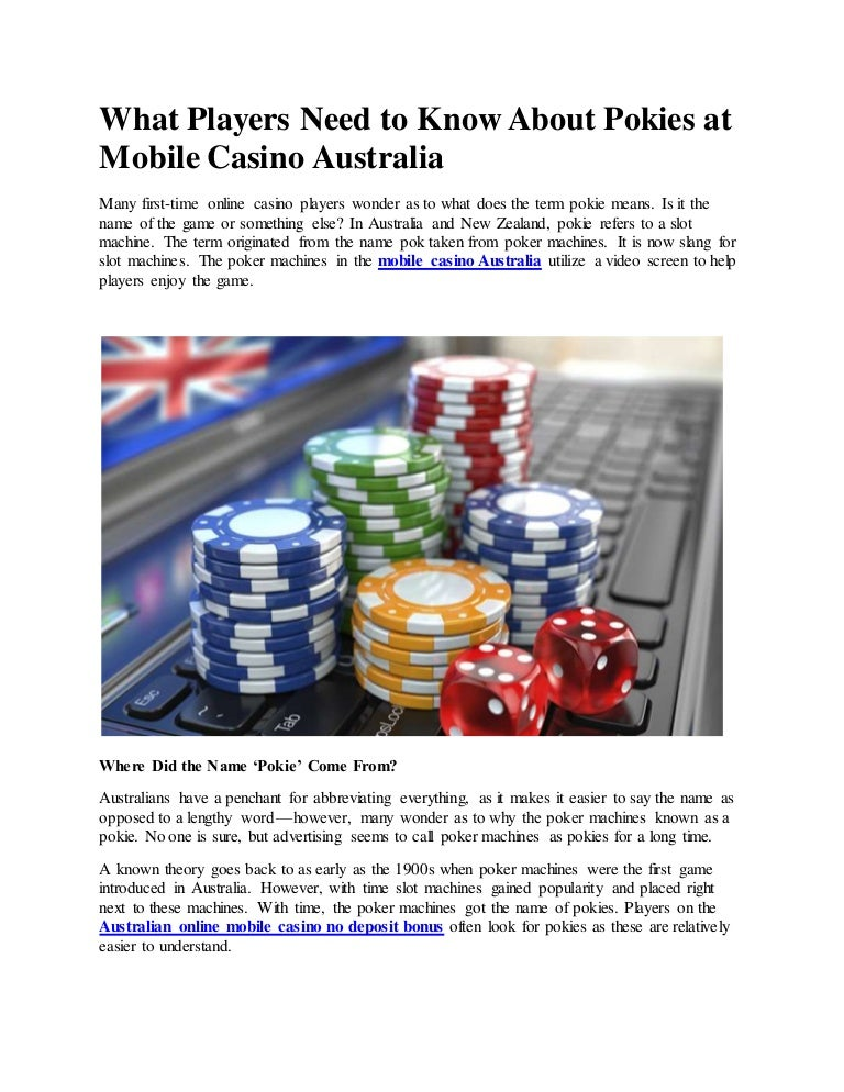 What Players Need To Know About Pokies At Mobile Casino Australia