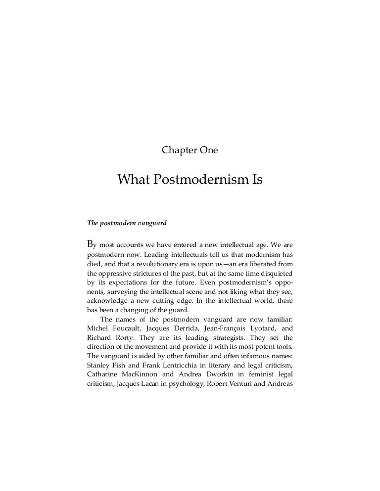 what postmodernism is