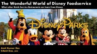 Wonderful world of Disney Foodservice