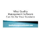 What quality management software can do for your business