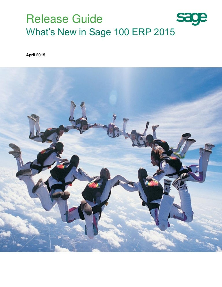 What's New in Sage 100 ERP 2015 (Guide)
