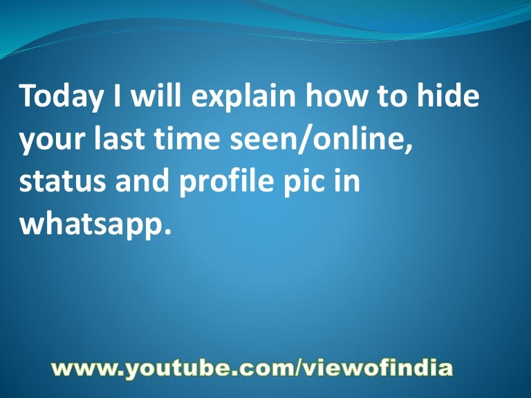 How to hide profile