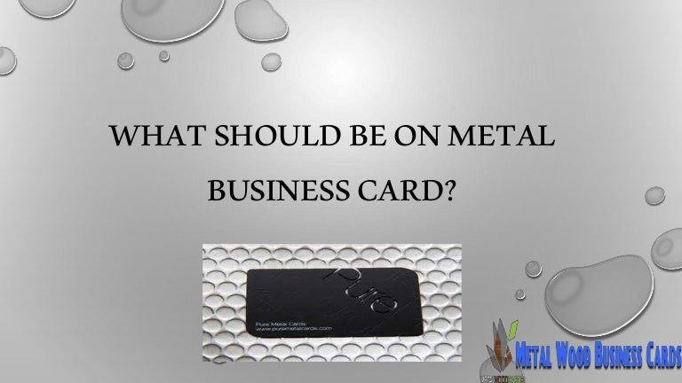 What Should Be On Metal Business Card
