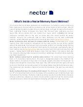 What's Inside a Nectar Memory Foam Mattress?