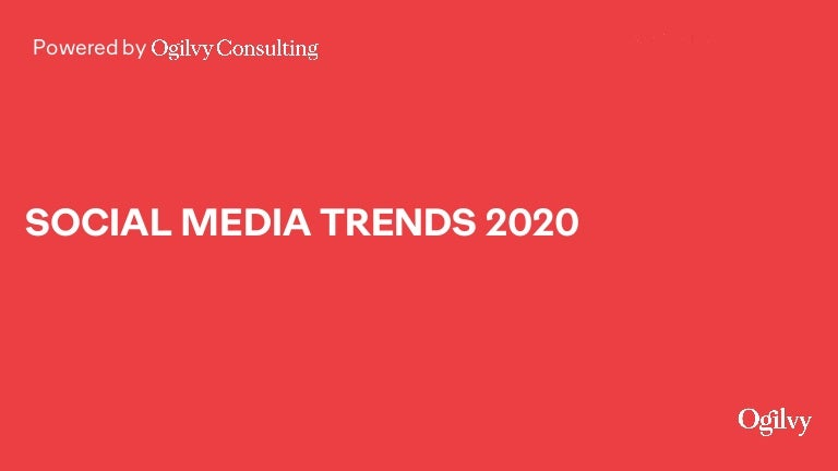 What's Next: Social Media Trends 2020