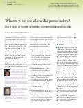 What's your social media personality How it helps or hinders networking implementation and success in early education settings