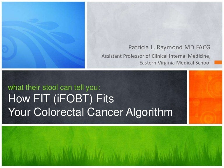 What Their Poo Can Tell You How Fit Ifobt Fits Your Colorectal Can