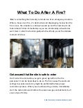 What To Do After A Fire?