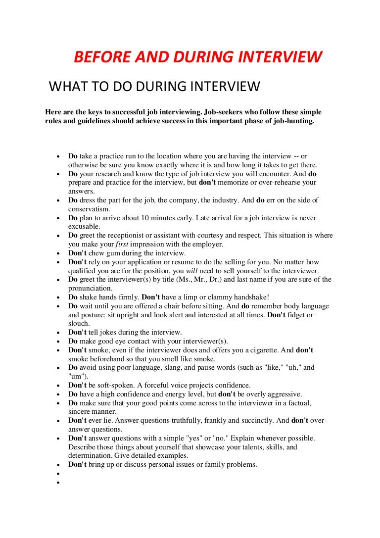 what to do during interview tips turkey