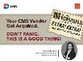 What to Do if Your CMS Vendor Got Acquired