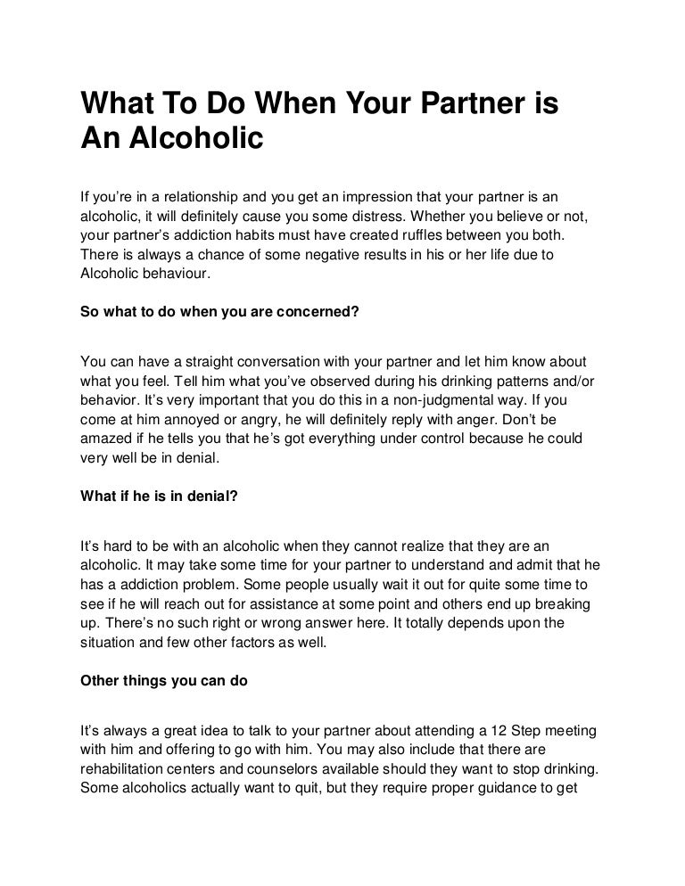 how to have a relationship with an alcoholic