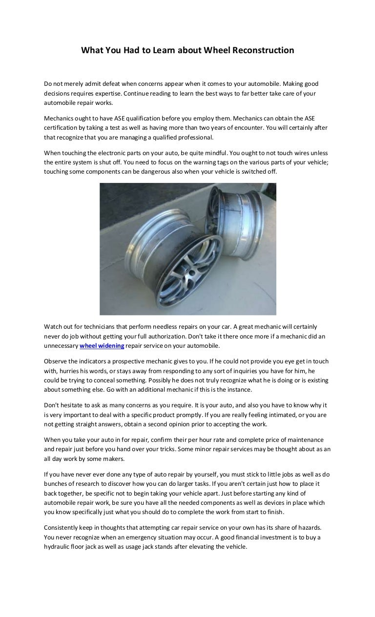 What you had to learn about wheel reconstruction 1betcityfo Image collections