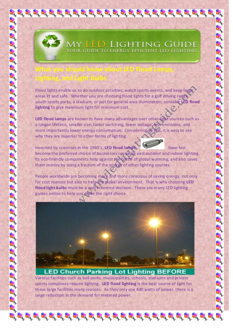 What You Should Know About Led Flood Lamps Lighting And Light Bulbs Instead Of Using A Switch To The Parking Or Others As Shown