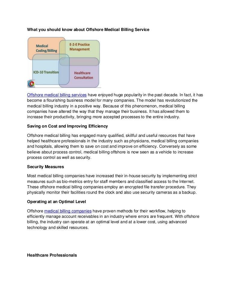 In house medical billing model