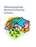 When buying small business accounting software