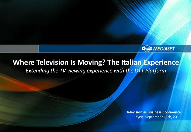 Angelo Pettazzi - Where is television moving on? Italian