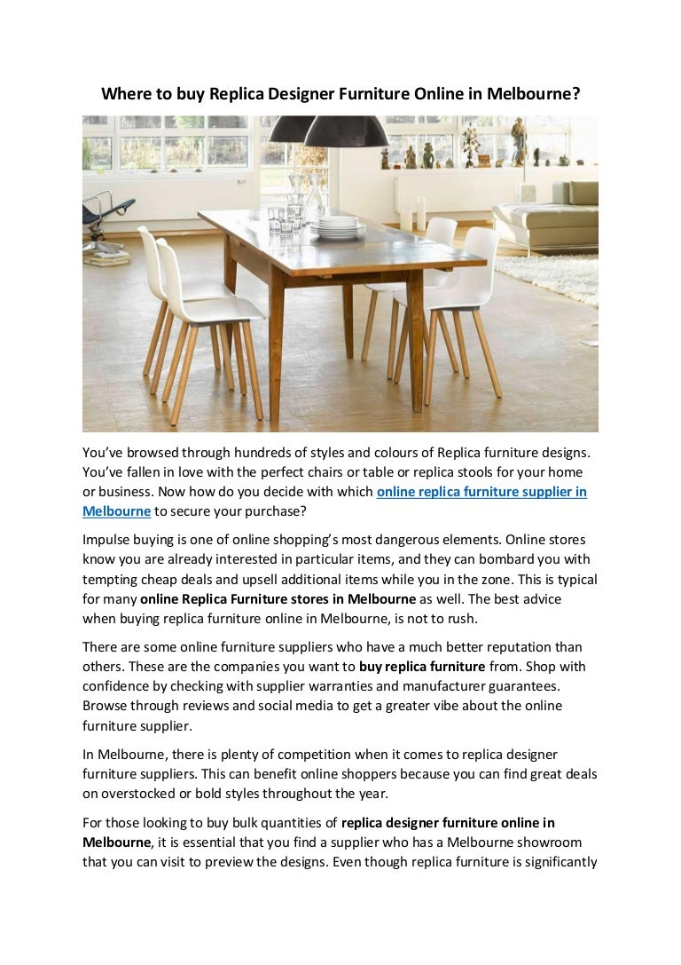 . Where to buy Replica Designer Furniture Online in Melbourne