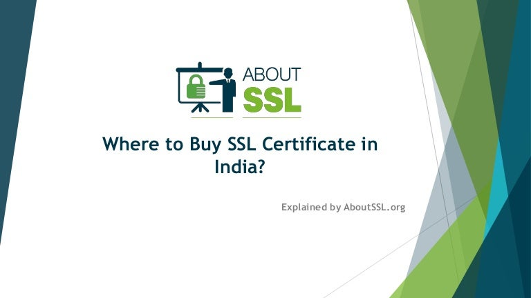 Where To Buy Ssl Certificate In India
