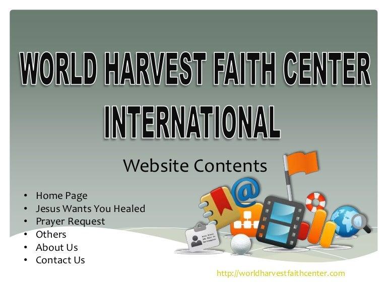 WORLD HARVEST FAITH CENTER INTERNATIONAL