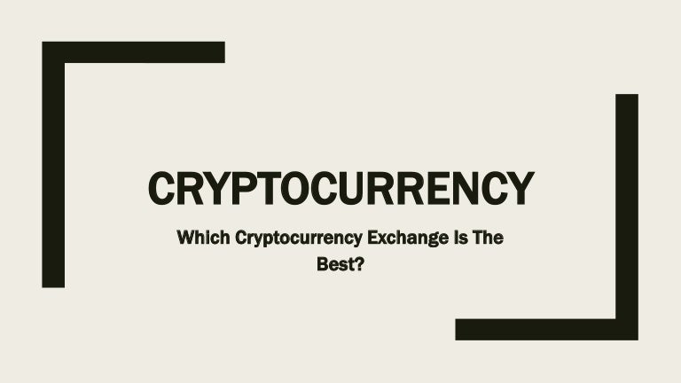 which cryptocurrency is best