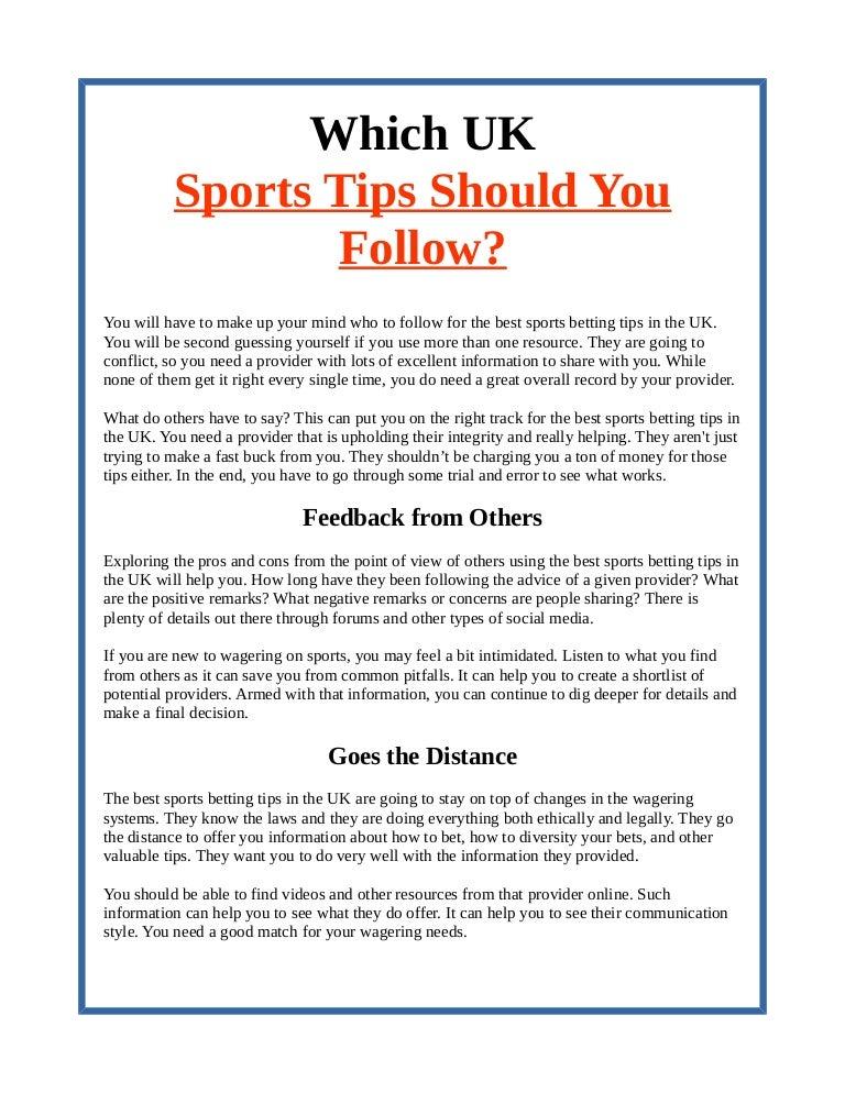 uk sports betting tips