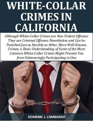 White - Collar Crimes in California