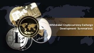 Whitelabel cryptocurrency exchange development- summarized;