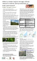 poster12: What is a better impact message of bean researchin Africa: farm productivity or land conservation?: