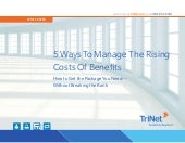 White paper  5 ways to manage the rising costs of benefits