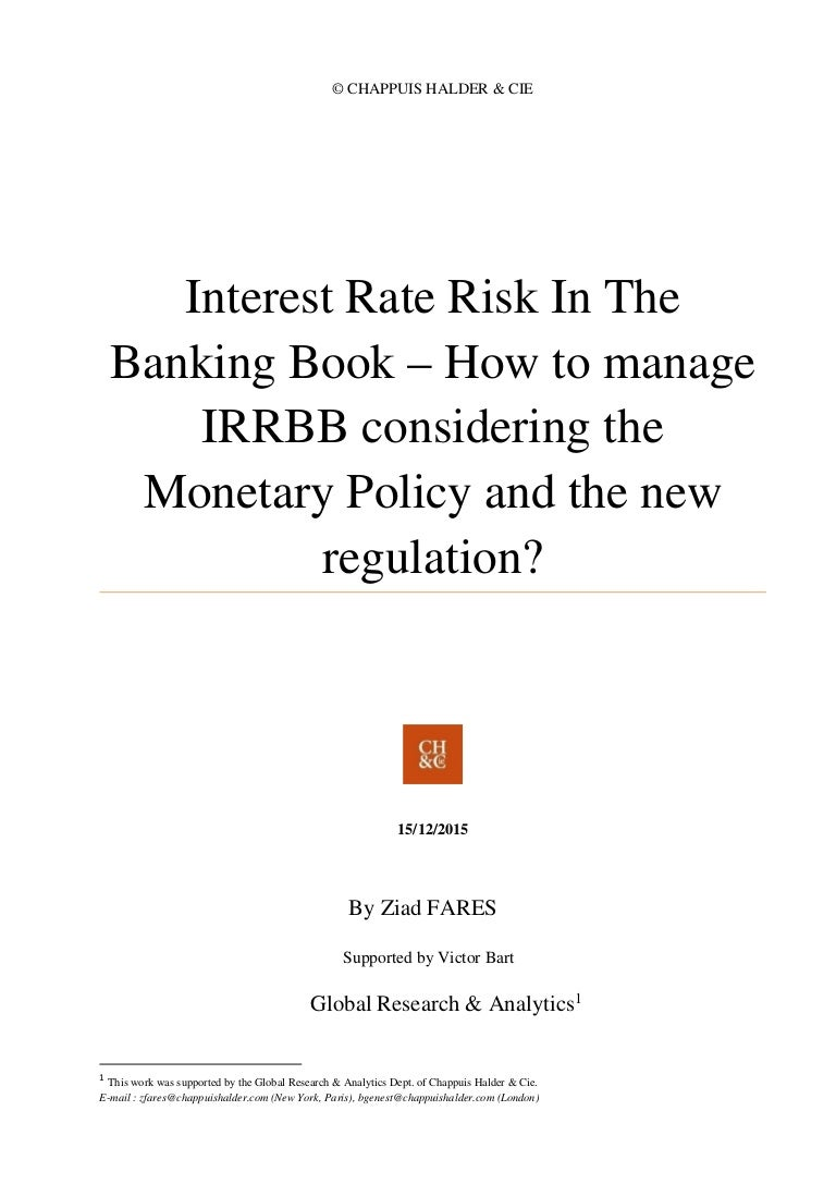How To Manage Interest Rate Risk In The Banking Book Considering The