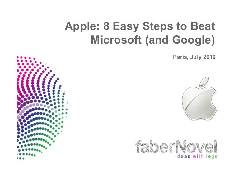 apple study 8 easy steps to beat microsoft and google